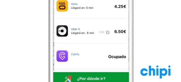 Chipi, la 'app' para comparar precios y tiempo en el transporte privado