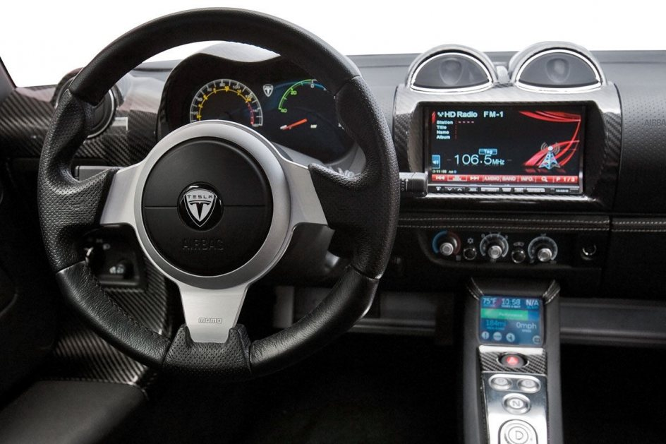 Interior del Tesla Roadster
